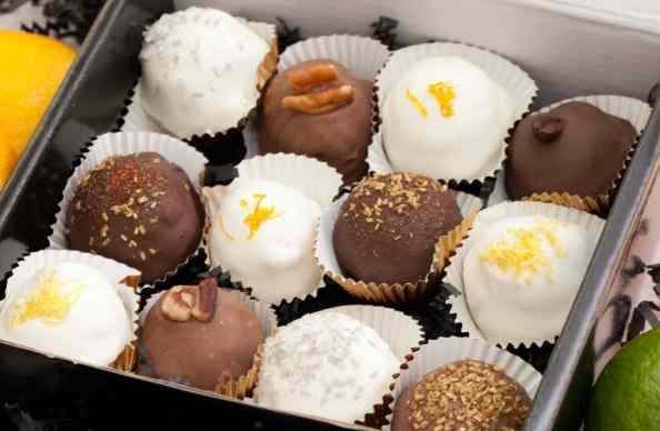 cake balls in box