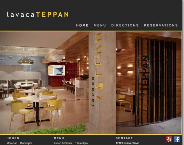 Lavaca Teppan Website